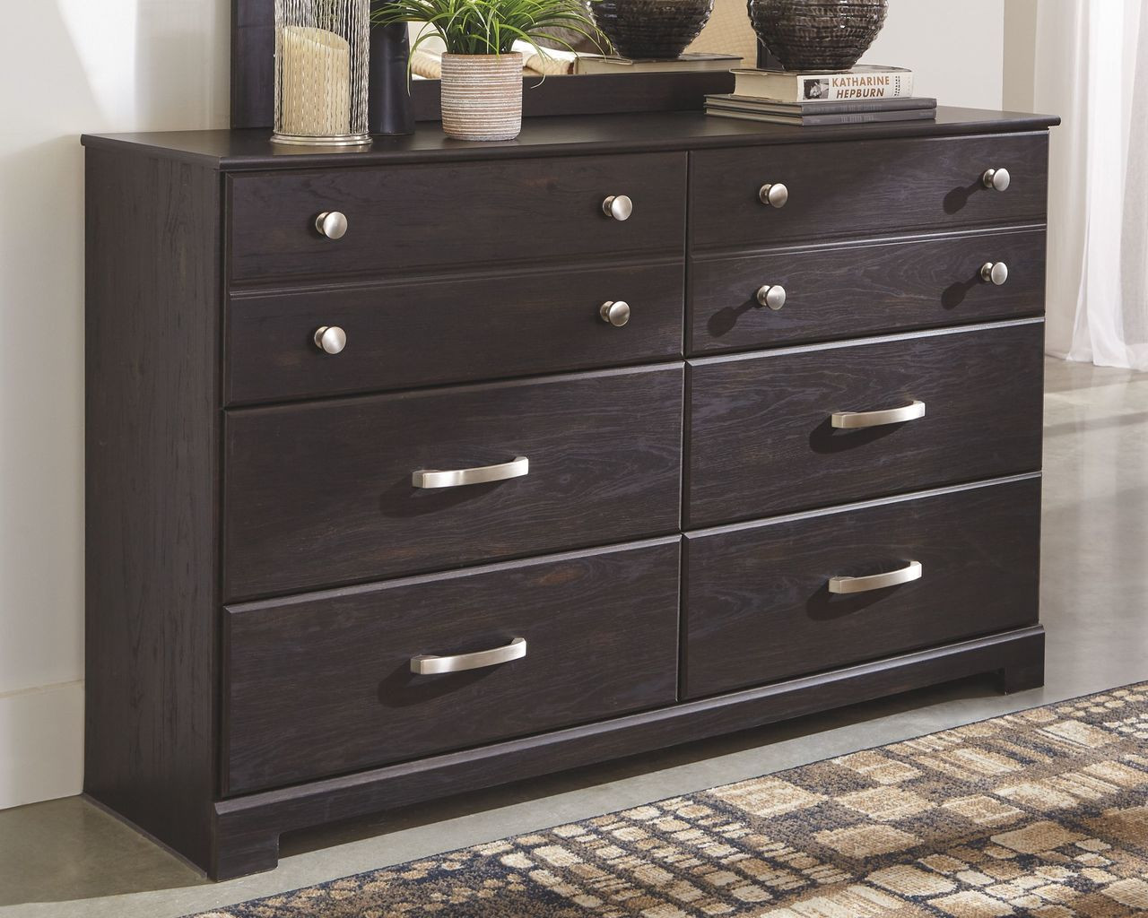 reputable site 9aec6 a6b1d Reylow Dark Brown Dresser