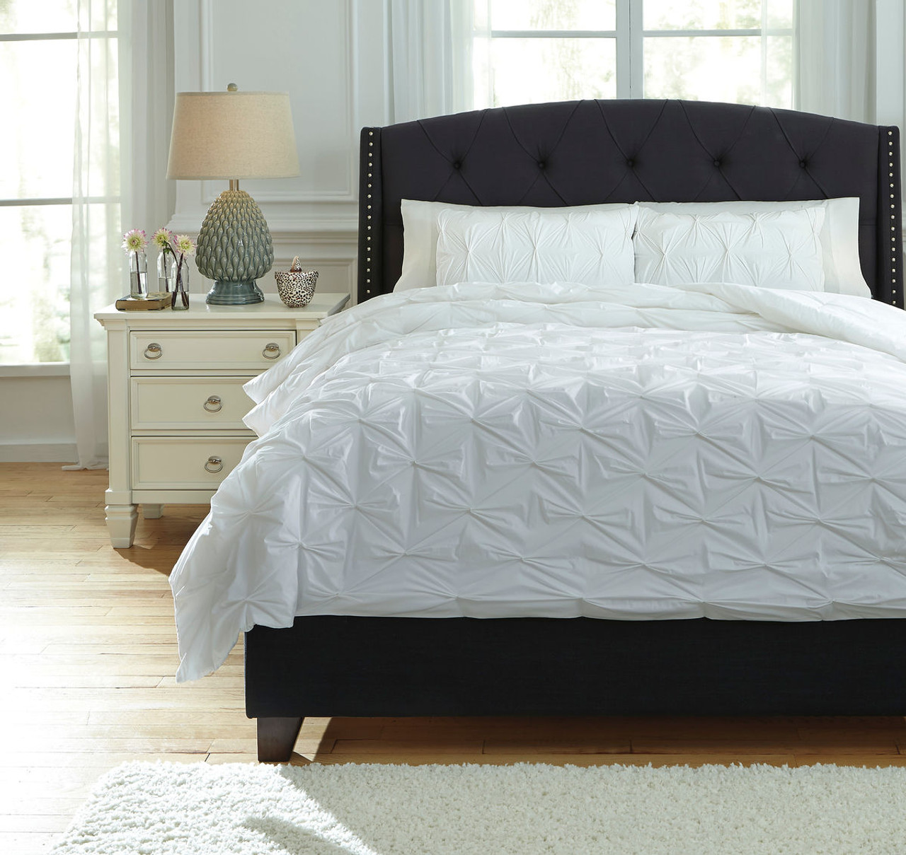 The Rimy White King Comforter Set Available At Royal Star Furniture Serving St Paul Mn