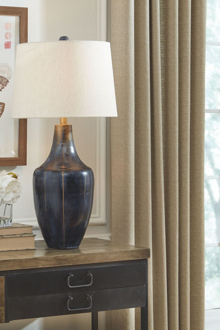 Evania Indigo Metal Table Lamp (1/CN)