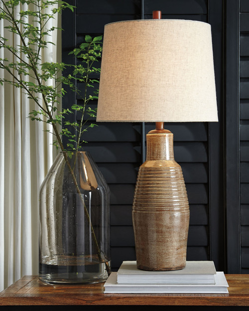 Calixto Taupe Terracotta Table Lamp (1/CN)