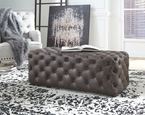 Lister Brown Accent Ottoman