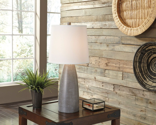 Shavontae Gray Poly Table Lamp (Set of 2)