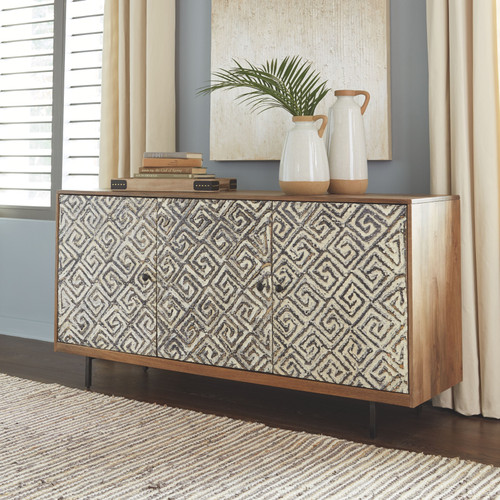 Kerrings Brown/Black/White Accent Cabinet