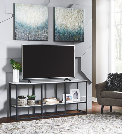 Donnesta Gray/Black Extra Large TV Stand