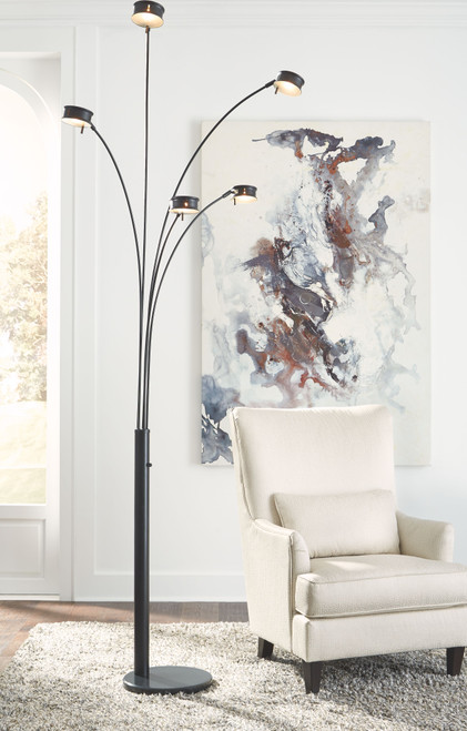 Marike Black Metal Arc Lamp (1/CN)