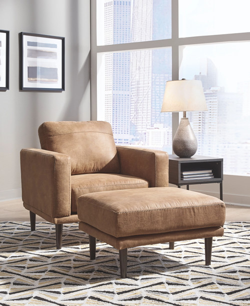 Arroyo Caramel 2 Pc. Chair with Ottoman