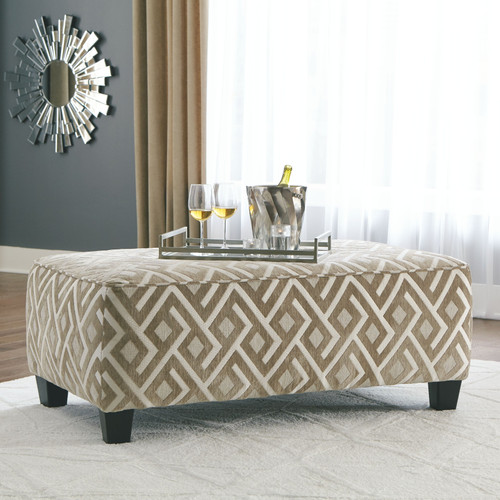 Dovemont Putty Oversized Accent Ottoman