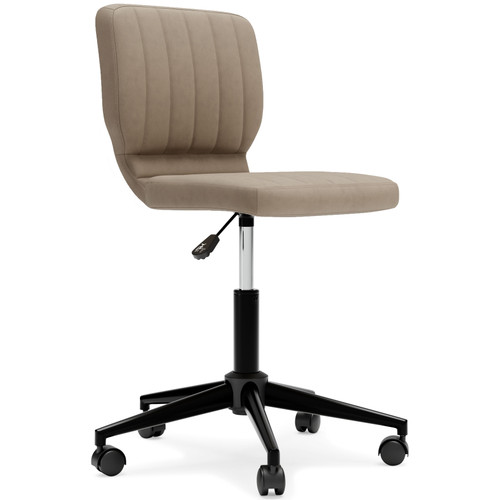 Beauenali Taupe Home Office Desk Chair (1/CN)
