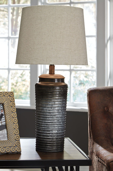 Norbert Gray Metal Table Lamp (Set of 2)