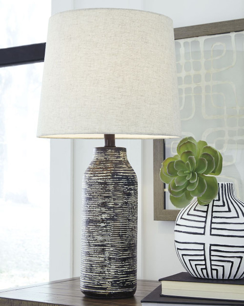 Mahima Black/White Paper Table Lamp (Set of 2)
