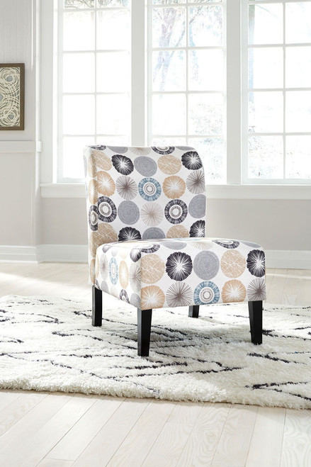 Triptis Gray/Tan Accent Chair