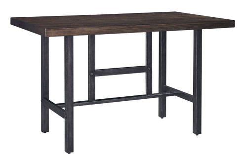 Haddigan Counter Height Dining Room Extension Table Dark Brown