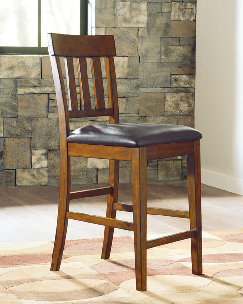 The Ralene Medium Brown Upholstered Barstool Available At
