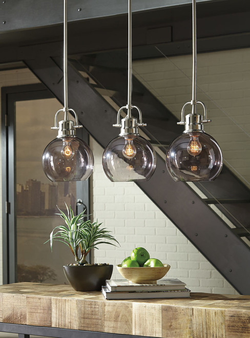 Johano Gray Glass Pendant Light (1/CN)