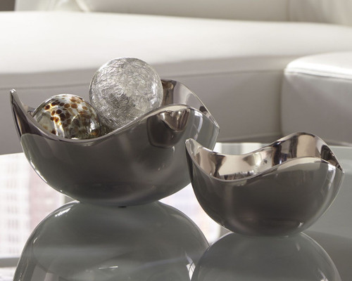 Donato Chrome Finish Bowl Set (2/CN)
