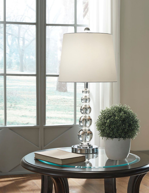 Joaquin Clear/Silver Finish Crystal Table Lamp (Set of 2)