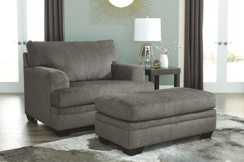 Dorsten Slate Chair and a Half with Ottoman