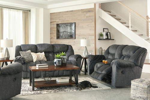 Capehorn Granite Reclining Sofa, DBL Reclining Loveseat with Console & Rocker Recliner