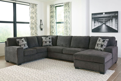 Fabulous Ballinasloe Smoke Laf Sofa Armless Loveseat Raf Corner Chaise Sectional Machost Co Dining Chair Design Ideas Machostcouk
