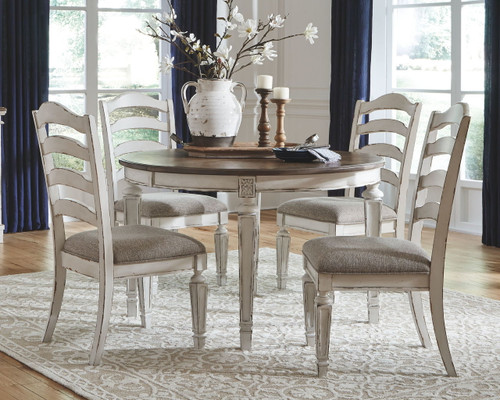 ... Realyn Chipped White Dining Upholstered Side Chair (Set Of 2)