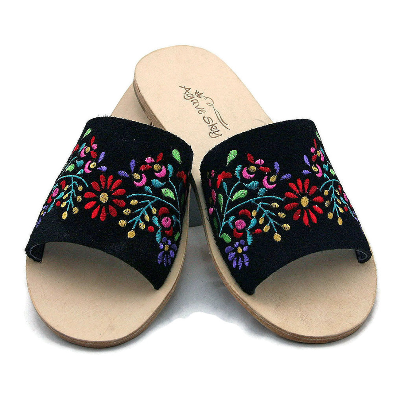 great fit run shoes really comfortable Embroidered Flats - Floral Design