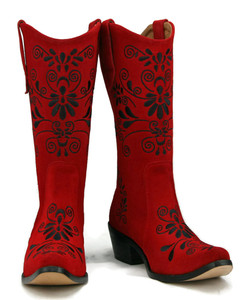 Jasmine Cowgirl Red w/ Black Stitch