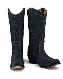 Jasmine Cowgirl Grey w/Black Stitch