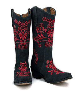 Jasmine Cowgirl Grey w/Red Stitch