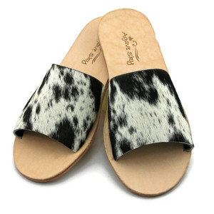 Cowhide Flats - Salt & Pepper