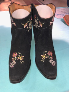 Size 6.5 Ankle boots - Sugar Skull
