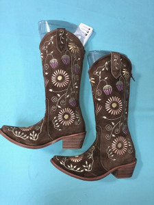 Size 5 Cowgirl boots - Honeysuckle design