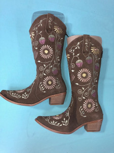 Size 6.5 Cowgirl boots - Honeysuckle design 2nd pair