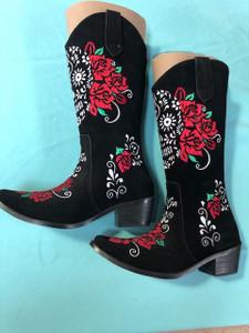Size 6 Cowgirl boots - Calavera design
