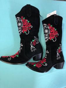 Size 12 Cowgirl boots - Calavera design