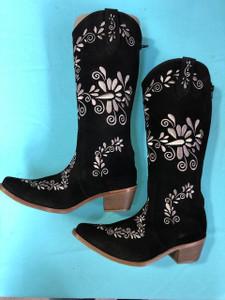 Size 8.5 Slim boots - Chocolate w/ Tan stitch