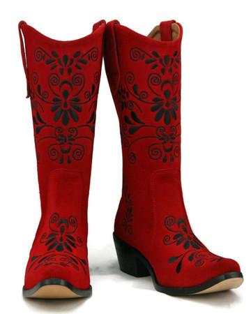 Jasmine Cowgirl Red w/ Black Stitch