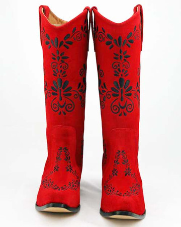 """Slim"" Charro Design Red w/ Black"