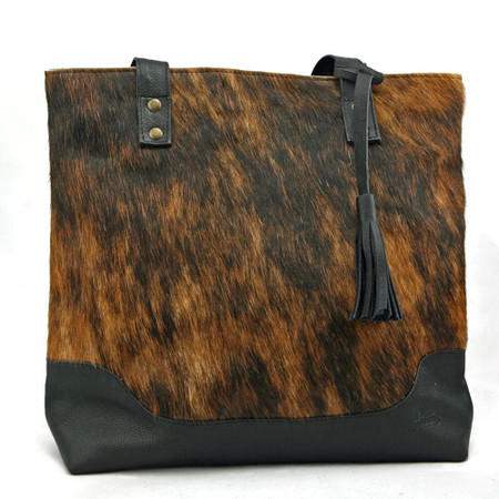 Large Cowhide Tote - Brindle