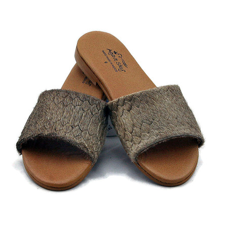 Cowhide Python design Sandals