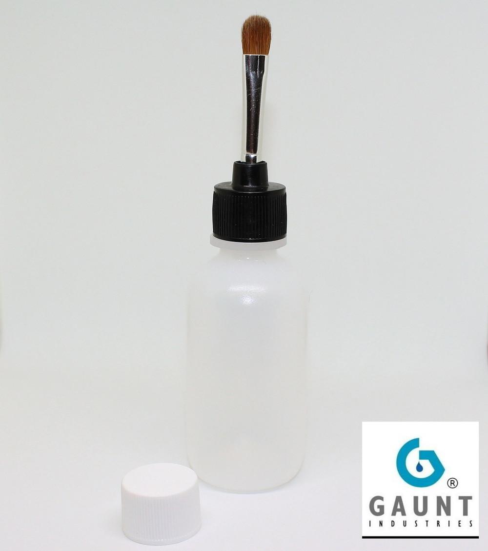 Flow thru Paintbrush Applicator 2 Oz Bottle, Red Sable Brush