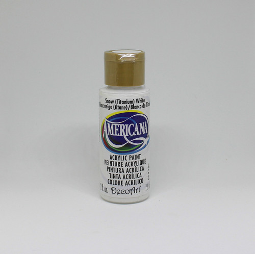 DecoArt Acrylic Paint White 2 Ounce