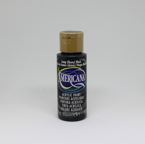 DecoArt Acrylic Paint Black 2 Ounce