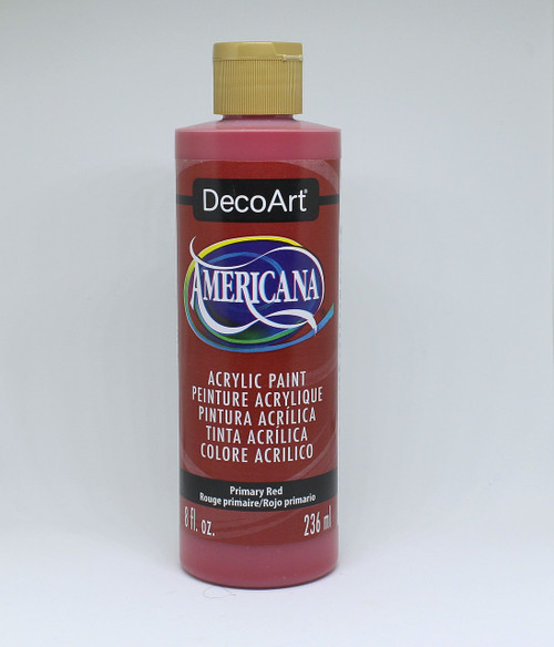 DecoArt Acrylic Paint Red 8 Ounce