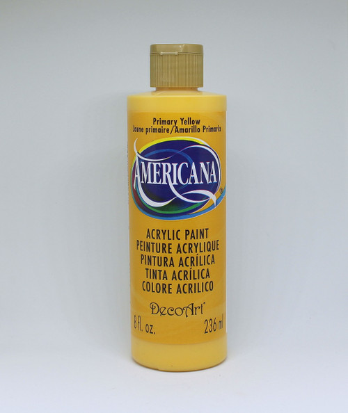 DecoArt Acrylic Paint Yellow 8 Ounce
