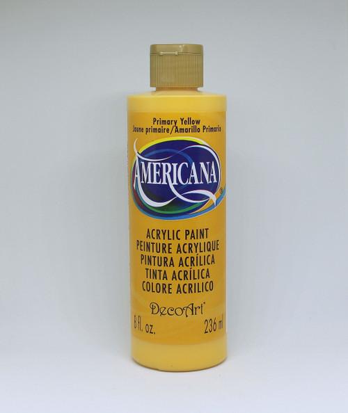 DecoArt Acrylic Paint Yellow 8 Ounce