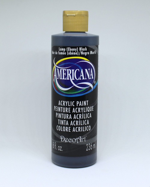 DecoArt Acrylic Paint Black 8 Ounce
