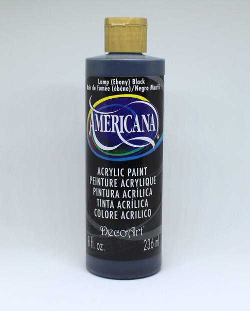 DecoArt Acrylic Paint Black 8 Ounce