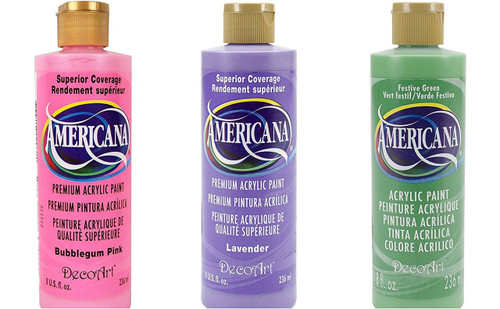 DecoArt Americana Acrylic Pastel Paint Set 8 oz Bottles