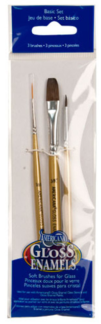 Gloss Enamels- 3 Piece Paintbrush Set