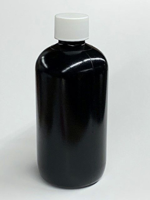 8 oz LDPE Boston Round Plastic Bottle with Cap